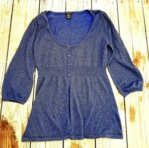 Sparkle Midnight Blue Cardigan Sweater